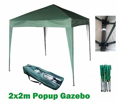 Mcc@home 2x2m Pop-up Gazebo Waterproof Outdoor Garden Marquee Canopy[Black* NS