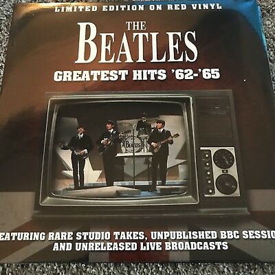 The Beatles 'Greatest Hits '62 - '65' Limited Edition Red Vinyl Lp - New Sealed