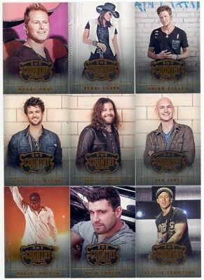 2014 Panini Country Music Trading Cards 100-Card Base Set