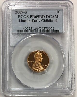 2009 S ~ PR69RD DCAM  Lincoln Bicentennial Penny Early Childhood  PCGS Proof