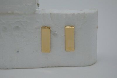 "LT Lieutenant Bars 3/4"" Gold Pair Collar Pins Rank Insignia Police PD FD"