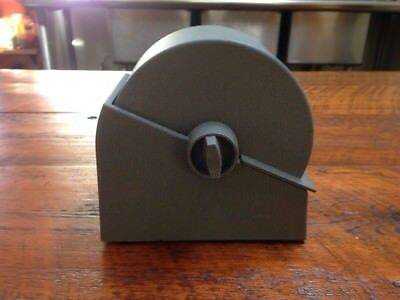 Vintage Bates Model R23-500 Industrial Gray Metal Rotary File Rolodex w/ Cards