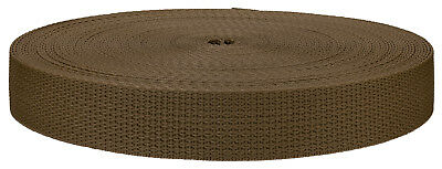 1 Inch Coyote Tan Polypro Webbing Closeout, 25 Yards