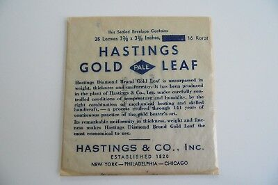 "Sealed Hastings Pale 16K loose gold leaf (25 3 3/8"" sheets)"