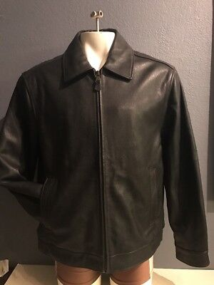 b1acf0683 DOCKERS BLACK LEATHER Jacket by Men's Size Large