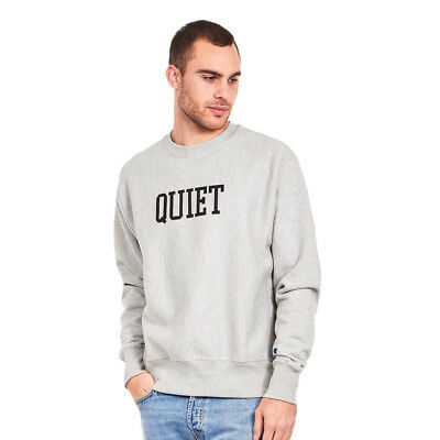 The Quiet Life x Champion - Champ Crewneck Sweater Heather Grey Pullover
