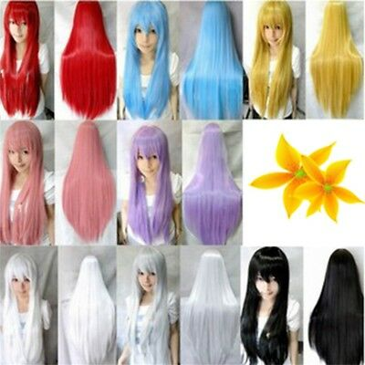 New Chic  Women's Hair Wig Anime Cosplay Role Play Straight Wig Hairpiece
