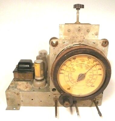 vintage* PHILCO 38-7 CHAIRSIDE RADIO part: UNTESTED CHASSIS w/6 TUBES & BIG DIAL