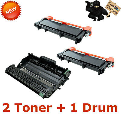 3PK 1x DR630 Drum + 2x TN660 Toner For Brother DR660 MFC-L2700DW MFC-L2720DW