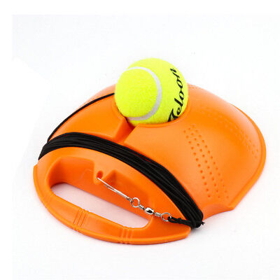 Outdoor Tennis Ball Singles Training Practice Drills Back Base Trainer HE