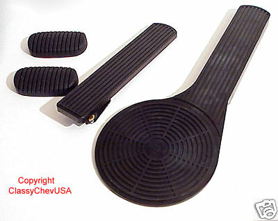 NEW DELUXE Accelerator Pedal Kit - 4PC 1949 1950 1951 1952 CHEVY CAR Rubber