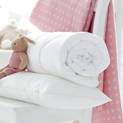 4.5 / 7 / 9 Tog Baby Crib Cot Bed Junior Bed Pillow & Duvet Nursery Bedding Set