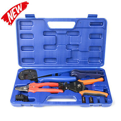 IWISS MC4 Solar Crimping Tool Kit with Wire Cable Cutter, Stripper Spanner