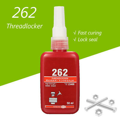 50ml Red High Strength 262 Threadlocking Adhesive Kit for M10 - M26 Thread Size