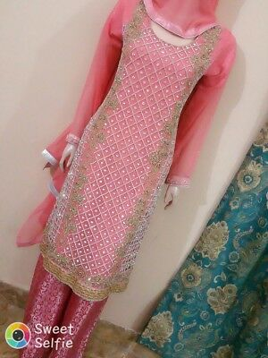 Pakistani cutwork and stonework shalwar Kameez
