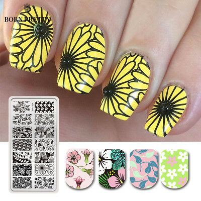 BORN PRETTY Nail Art Stamping Plates Spring Series Flower Image Templates Design