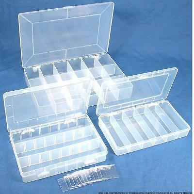 3 Plastic Storage Boxes for Beads & Gemstones
