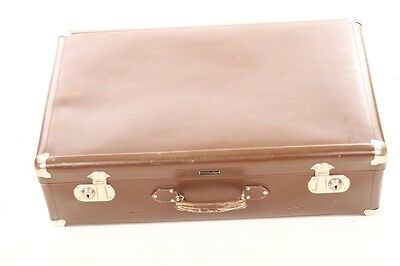 Beautiful Old Suitcase Travel Cases Retro Design Vintage Real Vulcanised fibre