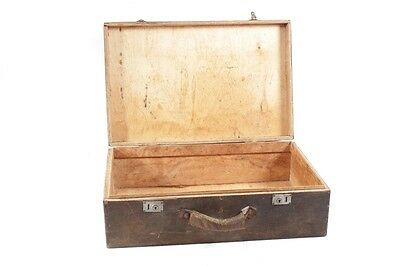 Old Wooden Box Suitcase Wood Transport Chest Box Classic Car Vintage