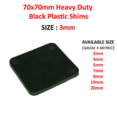 70mm x 70mm x 3mm PLASTIC PACKERS SQUARE SHIMS PAILS SPACERS WEDGES