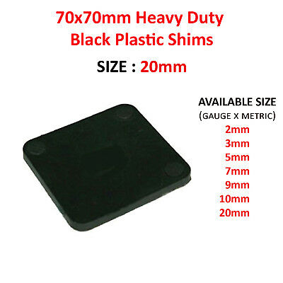 70mm x 70mm x 20mm PLASTIC PACKERS SQUARE SHIMS PAILS SPACERS WEDGES