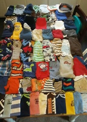 Huge 72 piece lot baby boy clothes size 6-9month, 9month,and 12month,outfits etc