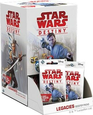 Star Wars Destiny: Legacies Sealed Booster Pack Display Box (36 packs) - SWD11