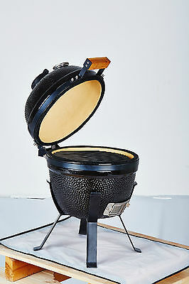 "YNNI 14"" Bespoke Kamado Oven BBQ/Grill Egg with Stand and Cover TQ0014BE"