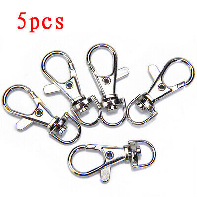 5pcs Heavy Duty Trigger Swivel Clip Nickel Dog Lead Lobster Clasp Snap Hooks
