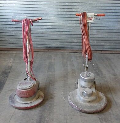 SSS UHS-20 Floor Buffer and Clarke FM2000 Electric Floor Buffer (2 Pc Lot) AS-IS