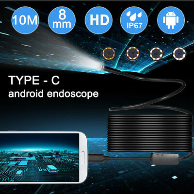 2in1 6LED TYPE-C USB Endoscope for PC Android Phone Inspection Camera Waterproof
