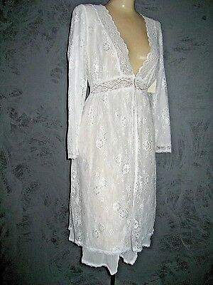 Claire Pettibone Bridal White Robe HARMONY Wedding Lace XS  NeW $180