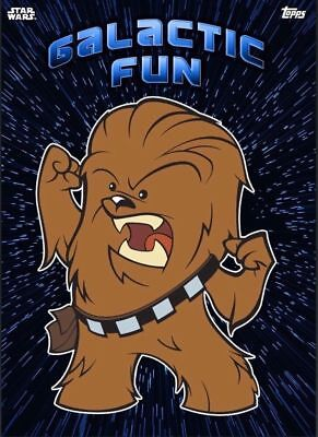 GALACTIC FUN BLUE CHEWBACCA ...Topps Star Wars Card Trader Digital... AWESOME