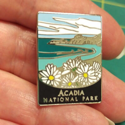 New Traveler Series Pin Acadia National Park Maine Lapel Pin