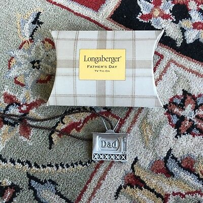 Longaberger Father's Day TV basket Tie-On  NEW USA