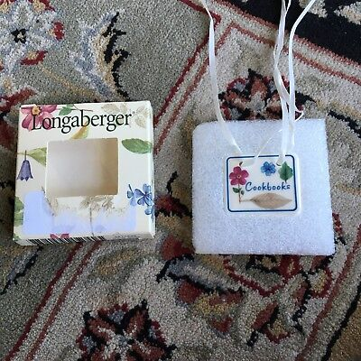 Longaberger Botanical Fields Cookbooks Tie On-NEW