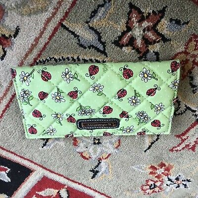 Longaberger Ladybugs & Daisies Green Checkbook NEW Rare Check Book
