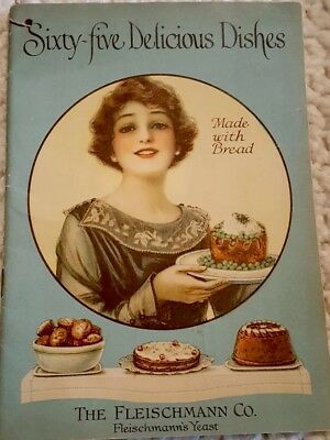 Vintage Fleischmann Co. Yeast Recipe Book, Pre-Owned Very Good Condition 1919