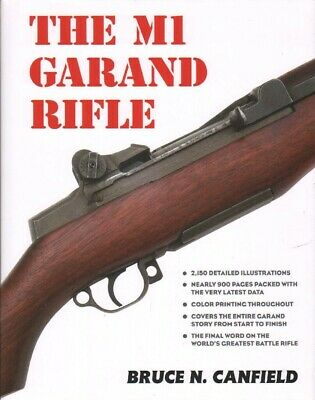 New, M1 Garand Rifle by Bruce Canfield, 872 pages w Sturdier Binding, Ship $0