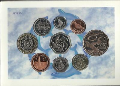 GIBRALTAR - 2000 9pc (1p-£5) mint set in folder with bimetal £2 Cattle of Geyron