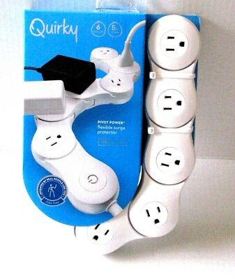 Quirky Pivot Power 6 outlet flexible surge protector power strip (NEW)