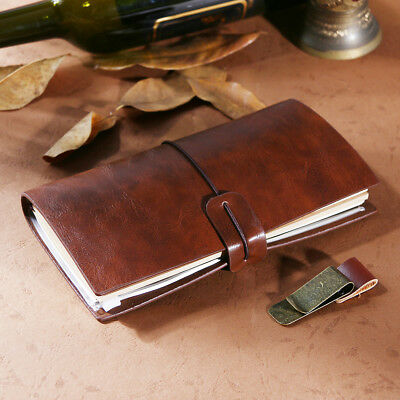Journal Book Leather Pocket Travel Diary Retro Leather Notebook From AU