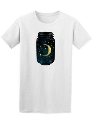 Crescent Moon And Stars Mason Jar Men's Tee - Image by Shutterstock