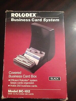 Rolodex Corporation A-Z Rolodex Model Number: BC 102 Covered Organizer. Nos!
