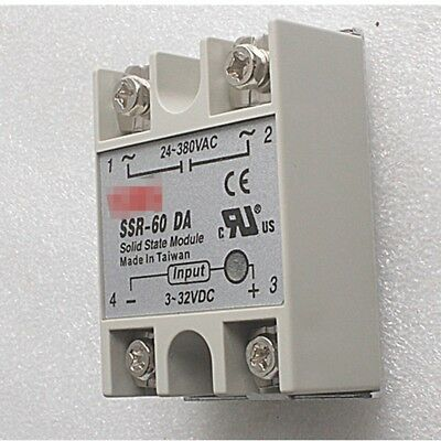 SSR-60DA SSR Single Phase Solid-state Solid State Relay 60A Output AC24-380V DE