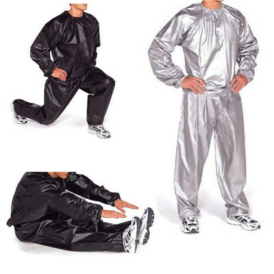 Heavy Duty Sweat Sauna Suit Gym Exercise Training Fitness Weight Loss Anti-Ri HE