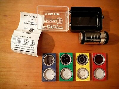 Finescale Magnifying Comparator Desk Model Set ~ Very Good