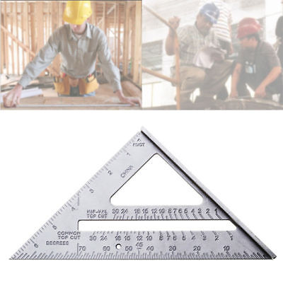 "7"" Aluminum Alloy Ruler Tri-Square Protractor Carpenter Framing Measurement QQ3"