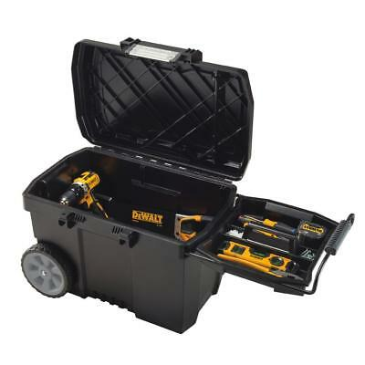Portable Rolling Tool Box Wheels 15 Gal. Contractor Chest Bin Storage In  Black