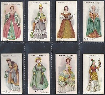 Ogdens - British Costumes From 100 Bc To 1904 - 8 Cards - Lot 08 Of 10